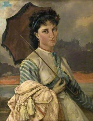 Woman with a Parasol, Mademoiselle Aubé de la Holde