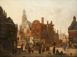 An Imaginary Dutch Street, with a Huckster