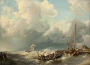 Boats Taking Haven from a Storm