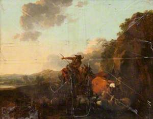 Landscape with Peasants Driving Cattle