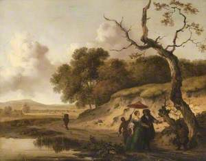 Landscape in Dunes with a Married Couple