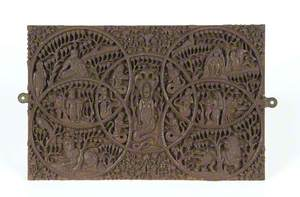 Carved Wooden Panel*