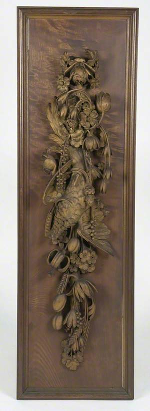Carved Wood Relief*