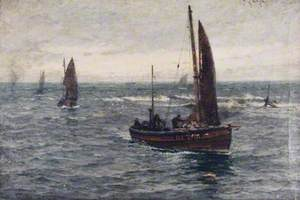 Seascape, Fishing Boats Returning