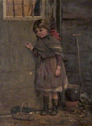 Genre Scene with a Little Girl