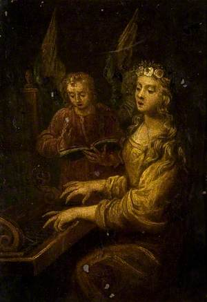Saint Cecilia with an Angel