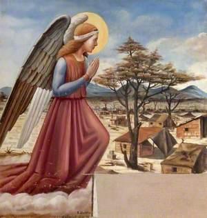 La Faruk Madonna (triptych, left wing)
