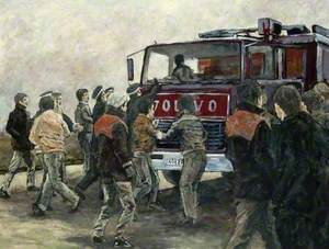 Pickets and 'Yuill and Dodds' Lorry