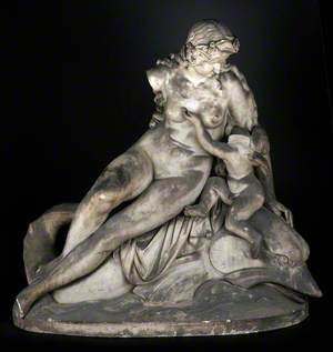 Venus with Cupid on Back of Dolphin