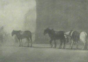 Trace Horses on a Foggy Day, St George's Place