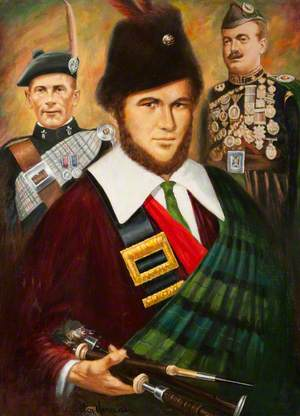Three Pipers and a Painter