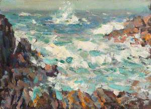 Seascape with Breaking Waves