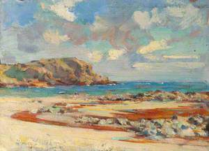 Beach Scene with Sandy Bay