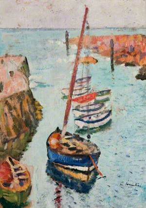 Boats in a  Harbour, Lower Largo