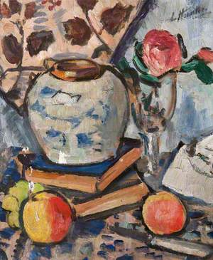 Still Life with  Apples and a Rose