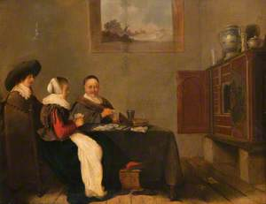 Interior with Card Players
