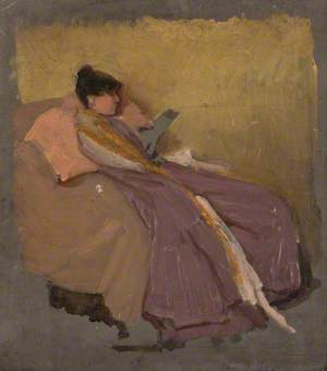 Woman in an Armchair Reading a Book