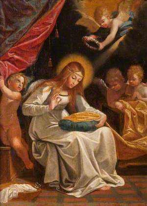 The Virgin Sewing