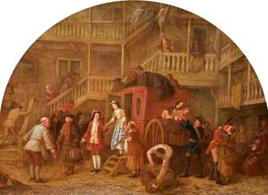 The Arrival of the Coach at the 'Ram Inn', Cirencester, Gloucestershire, 1720