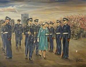 Queen Elizabeth II at RAF South Cerney, Gloucestershire