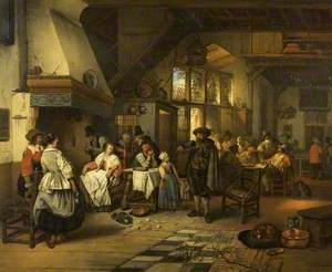 Interior of a Tavern with a Blind Fiddler