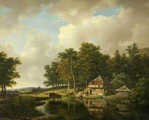 Landscape with a Mill and a Water Wheel