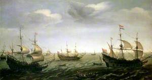 The Departure of Admiral Houtman's Fleet for the East Indies