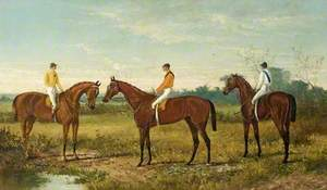 Winners in the Derby ('Bend Or' Ridden by Fred Archer, 'Isonomy' and 'Robert the Devil')
