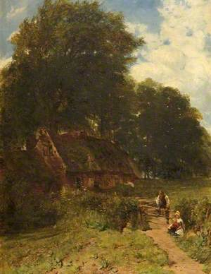 Cottage Scene, Warley, Worcestershire