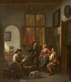 Interior with a Cavalier at Wine
