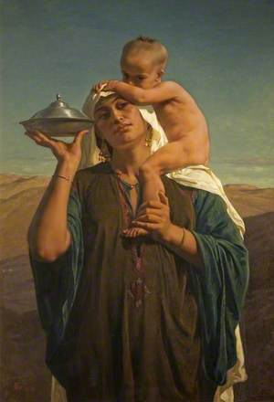 Bedouin Mother and Child (Afterglow)