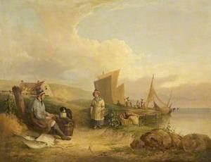 Fisherman Mending His Nets
