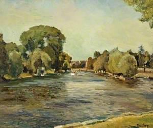The River at Kingston upon Thames, Surrey