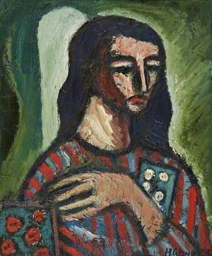 Bust of a Woman in a Striped Top