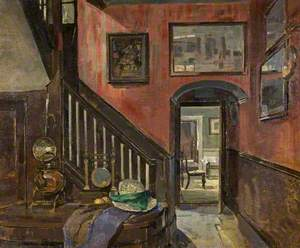 Interior of Danvers House, 109, High Street, Cricklade, Wiltshire, c.1920