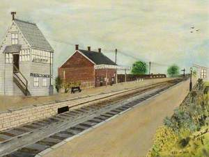Cricklade Railway Station, Wiltshire, c.1950