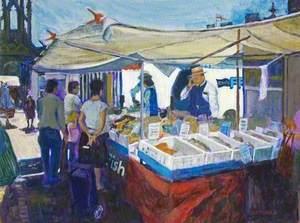 Fred's Fresh Fish, Devizes Market, Wiltshire
