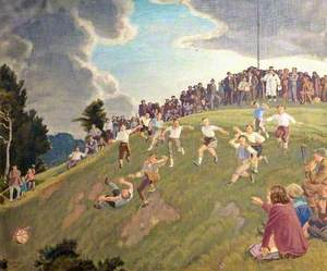 Cheese Rolling on Cooper's Hill, Gloucestershire