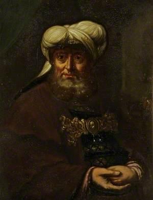 A Rabbi (King Uzziah Stricken with Leprosy)