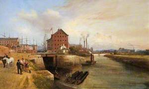 The Quay and Docks, Gloucester, 1878