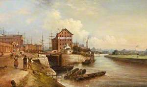 The Quay and Docks, Gloucester, 1890