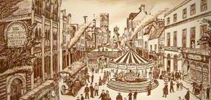 Barton Fair, Gloucestershire, c.1900