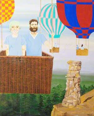 Doctor and Nurse Hot Air Ballooning
