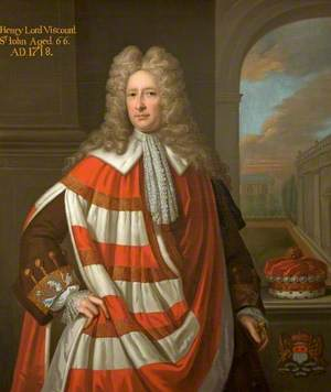 Henry St John (1652–1742), 1st Viscount St John, Aged 66 Years, in Parliamentary Robes