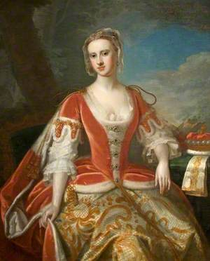 Anne Furnese (1711–1747), First Wife of the 2nd Viscount St John, in Coronation Robes