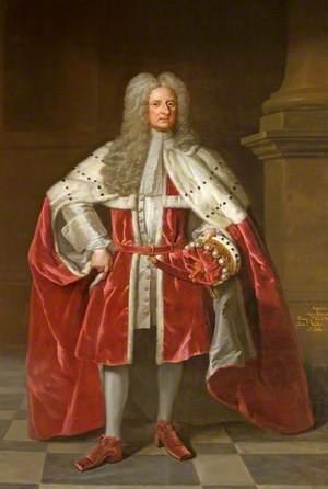 Henry St John (1652–1742), 1st Viscount St John, in Coronation Robes
