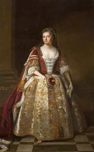Angelica Magdalena Wharton, née Pelissary (c.1664–1736), 1st Viscountess St John, in Coronation Robes