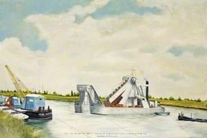New Docks, Sharpness, Gloucestershire, No. 4 Steam Dredger