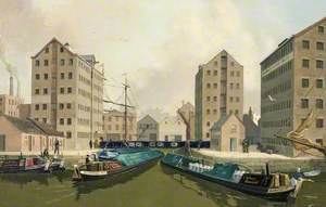 Gloucester Docks (Entrance to Victoria Basin with Boats)