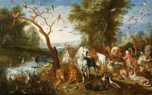 Landscape with the Animals Entering the Ark
